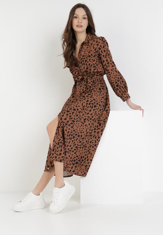 Camelowa Sukienka Spiteteeth