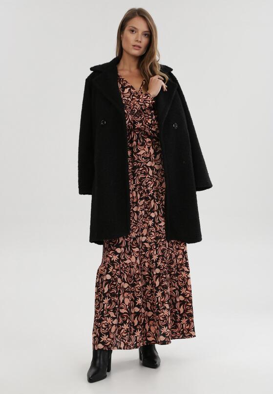 Czarno-Beżowa Sukienka Perbyran
