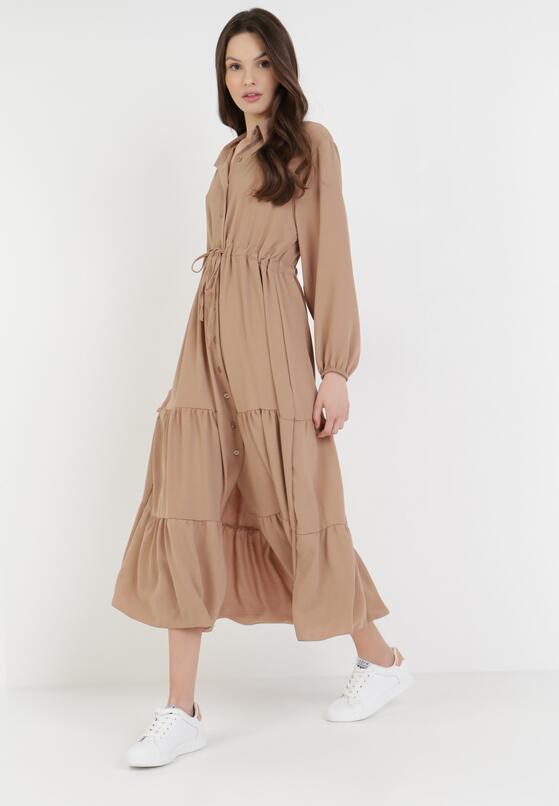 Beżowa Sukienka Elanala