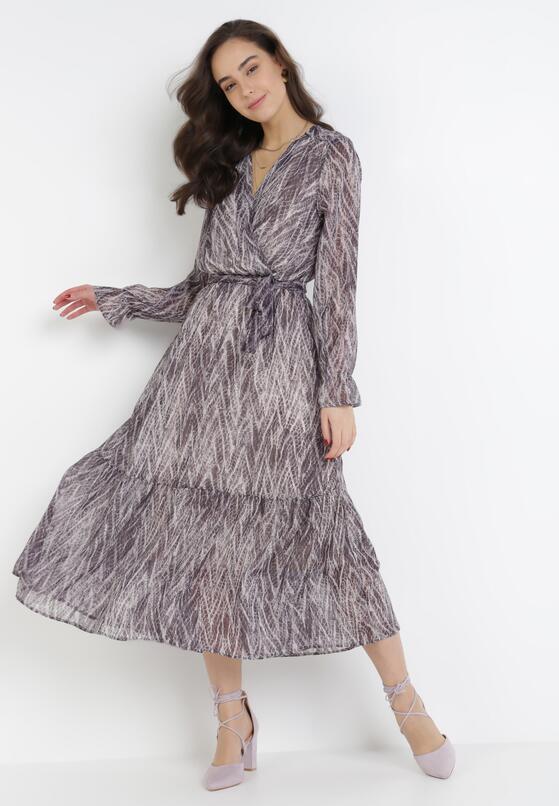 Fioletowa Sukienka Yinwarin