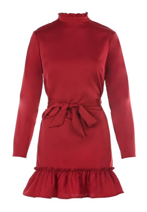 Bordowa Sukienka Leodi