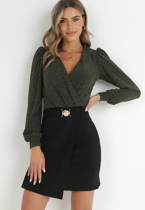 Czarno-Złota Sukienka Flutterfruit