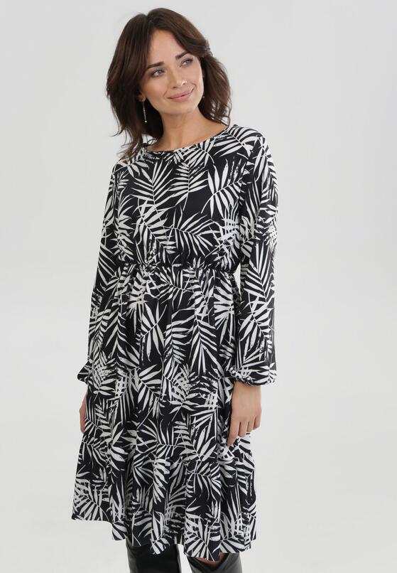 Biało-Czarna Sukienka Amalinei