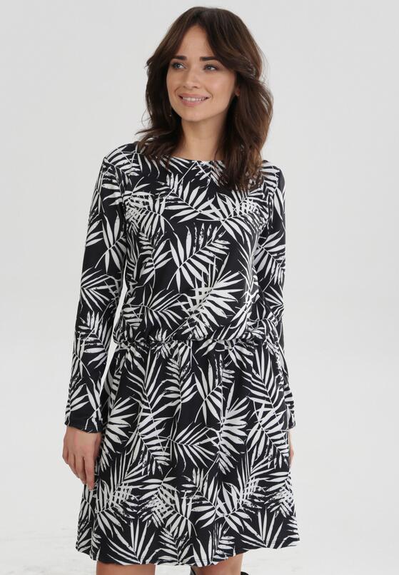 Czarno-Biała Sukienka Cheena