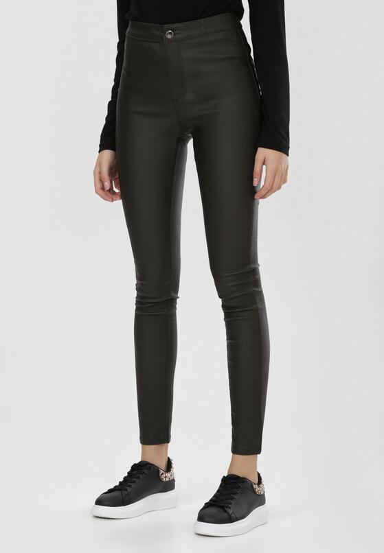 Ciemnozielone Spodnie Skinny Lilola