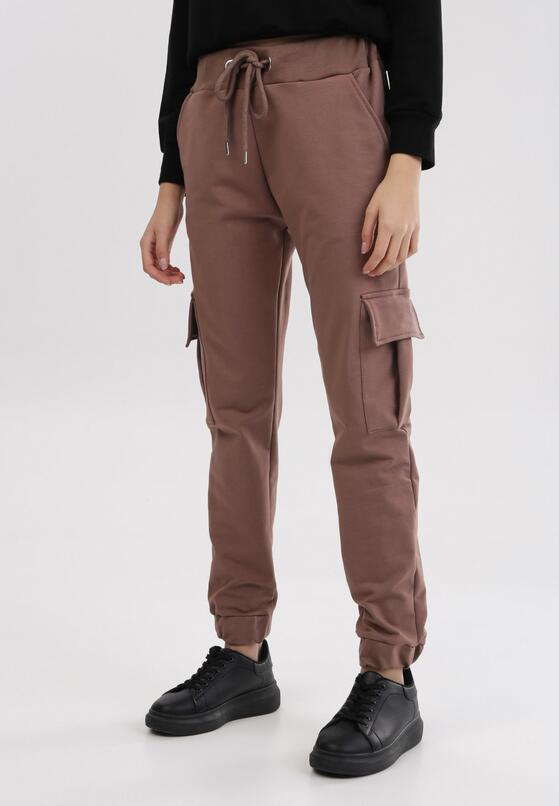 Ciemnobrązowe Spodnie Phirelia