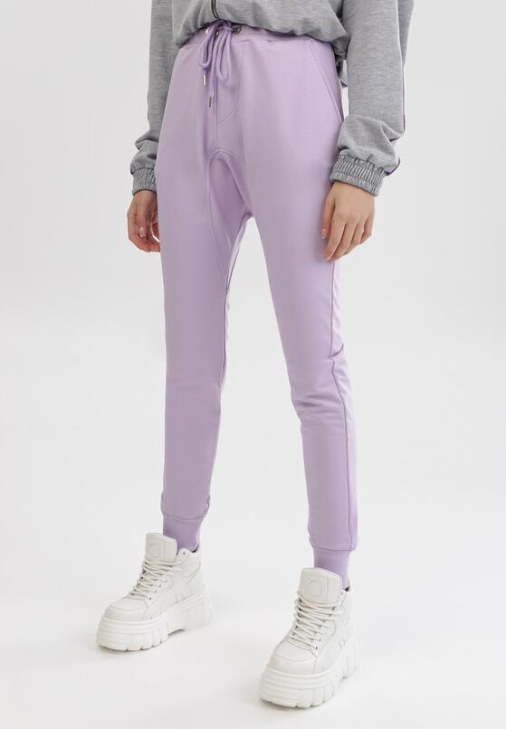 Jasnofioletowe Spodnie Dresowe Peilophi
