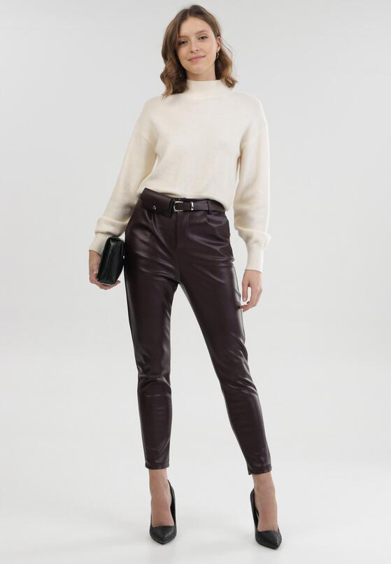 Bordowe Spodnie Orryne