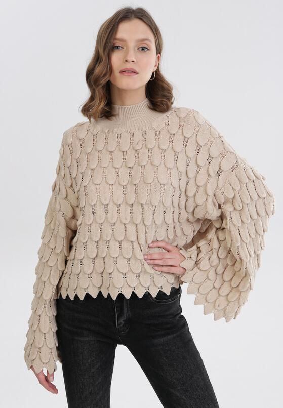 Beżowy Sweter Adriagune