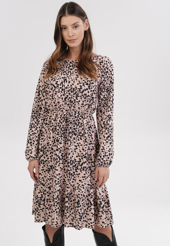 Jasnobeżowa Sukienka Amalinei