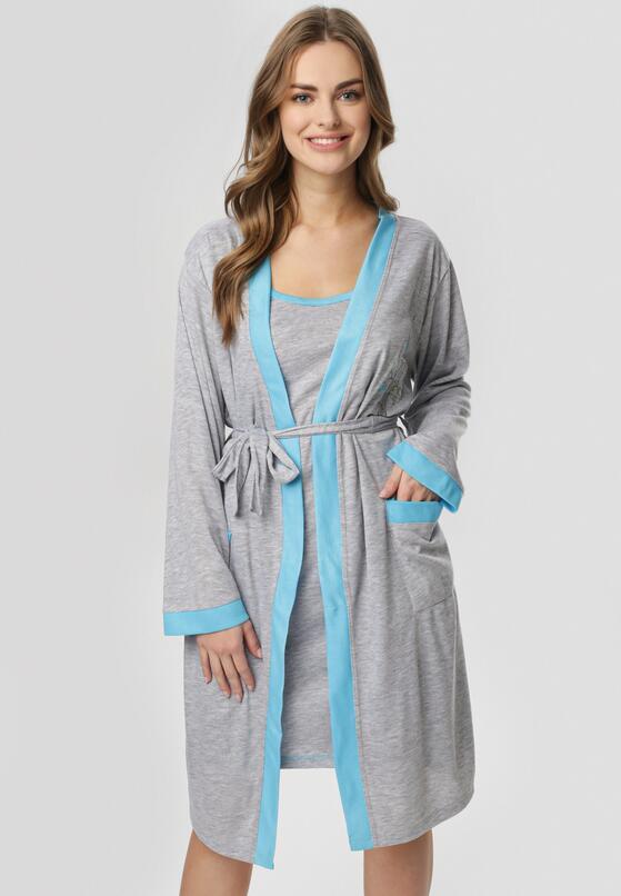 Niebiesko-Szara Koszula Nocna Amythise