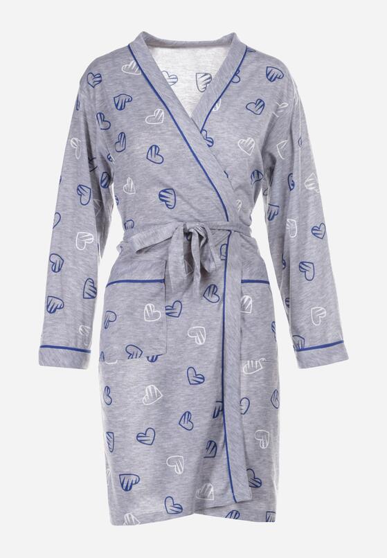Szaro-Niebieska Koszula Nocna Salaleora