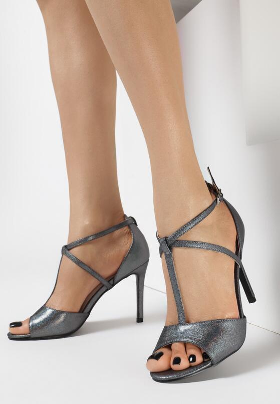 Ciemnoszare Sandały Rios