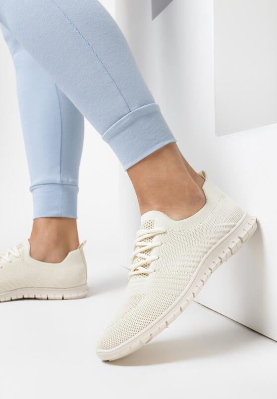 Beżowe Buty Sportowe Eatherian