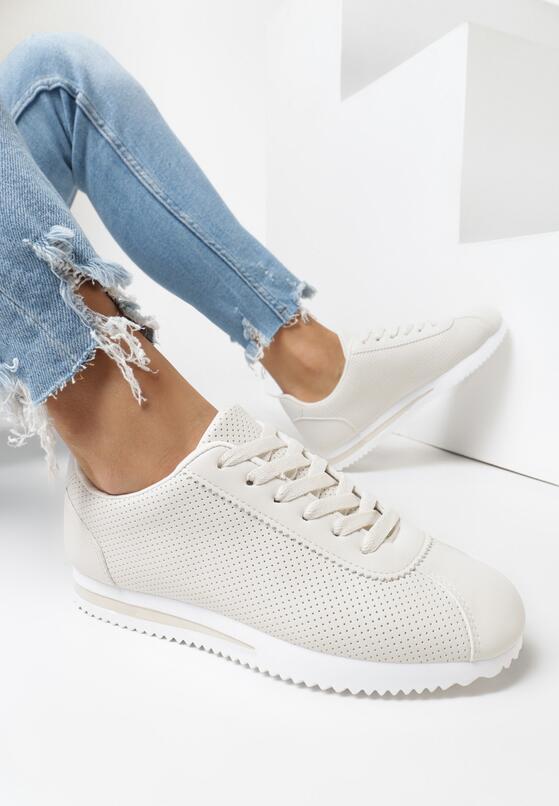 Beżowe Buty Sportowe Molphaeia
