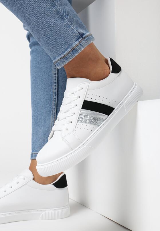 Biało-Czarne Buty Sportowe Echiteia