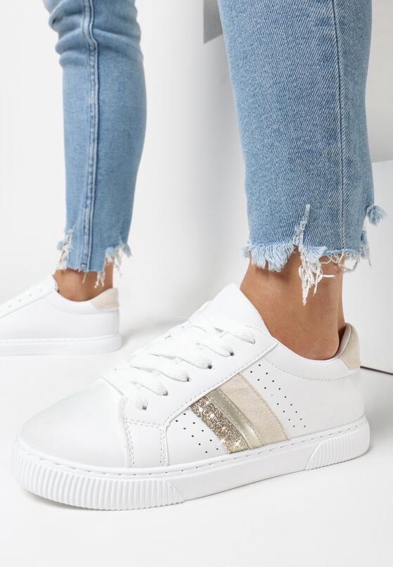Biało-Beżowe Buty Sportowe Echiteia