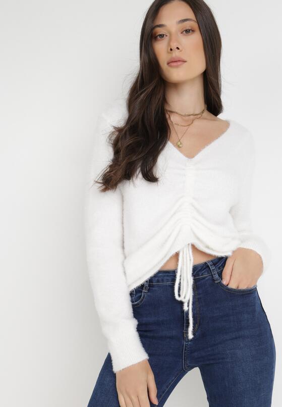 Biały Sweter Brime