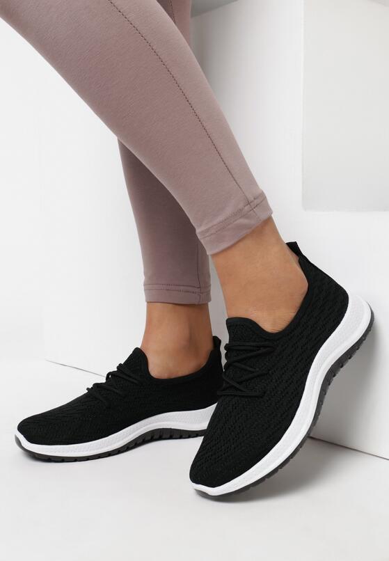 Czarne Buty Sportowe Corderinia