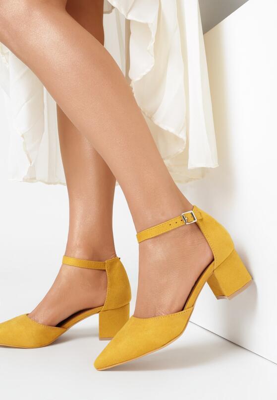 Żółte Czółenka Echilia
