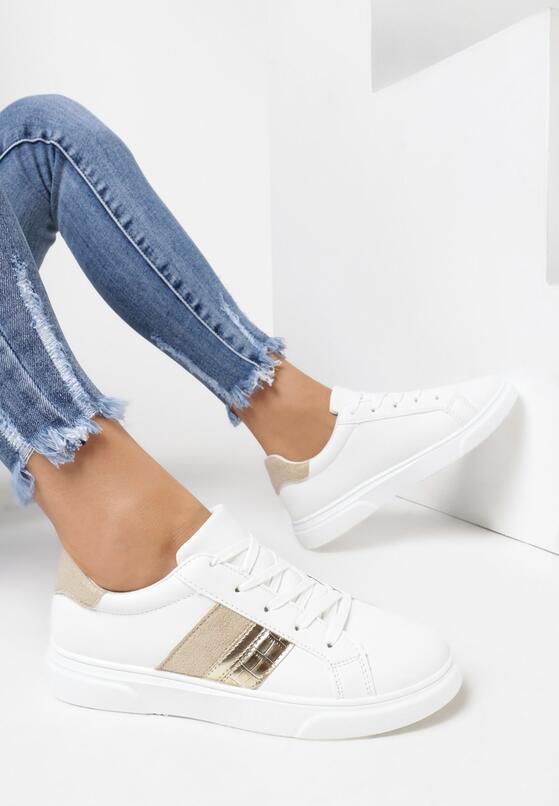 Biało-Beżowe Buty Sportowe Anisesis