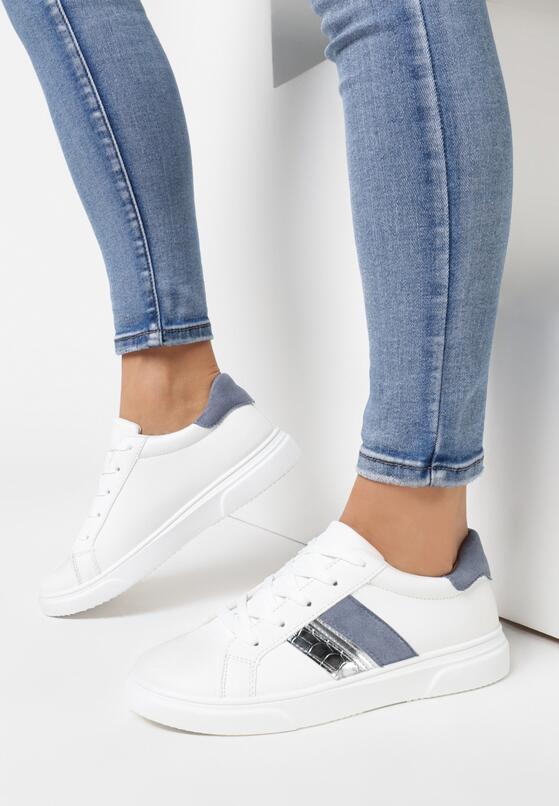 Biało-Niebieskie Buty Sportowe Anisesis