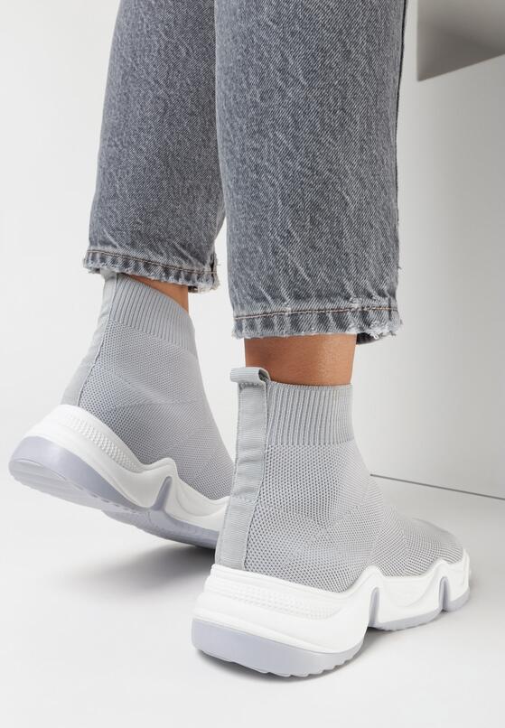 Szare Sneakersy Galexialyn