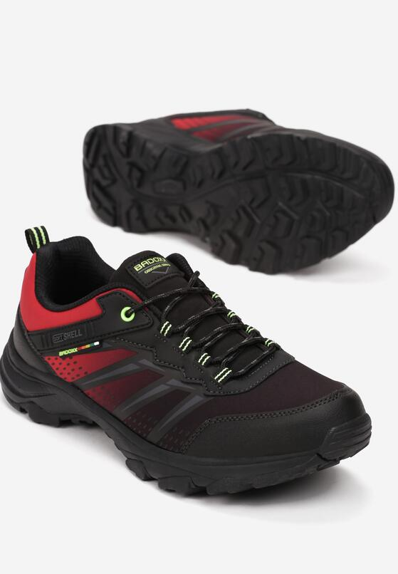 Czarno-Czerwone Buty Sportowe Lithacia