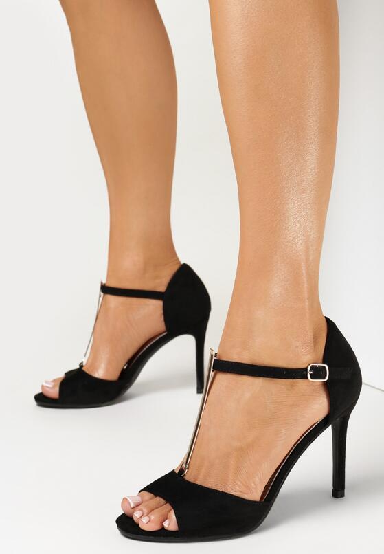 Czarne Sandały Prisertise