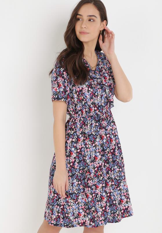 Granatowa Sukienka Aelacia
