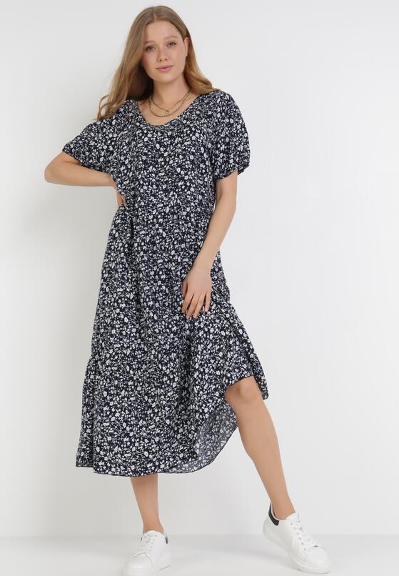Granatowa Sukienka Echitheis