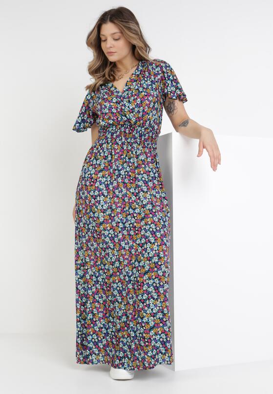 Granatowa Sukienka Phiodeia