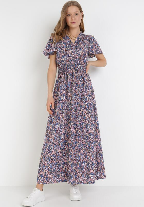 Granatowa Sukienka Amynei