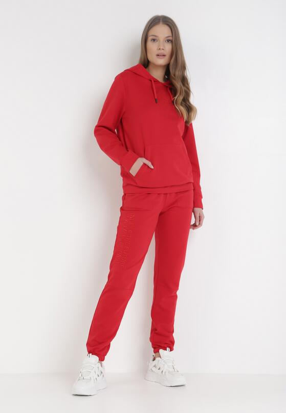 Czerwony Komplet Dresowy Misishia