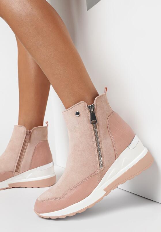 Różowe Sneakersy Meridelin