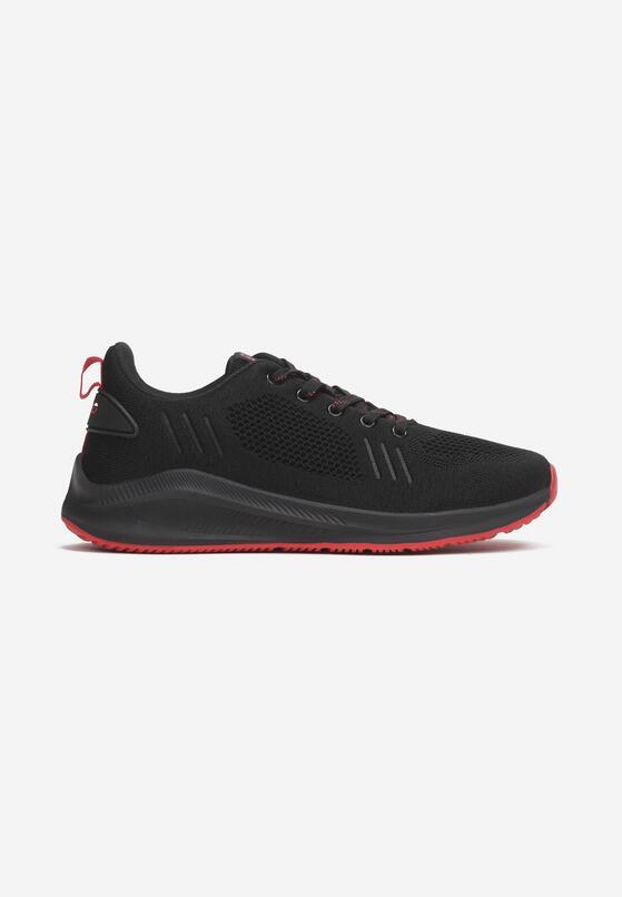 Czarno-Czerwone Buty Sportowe Adreny