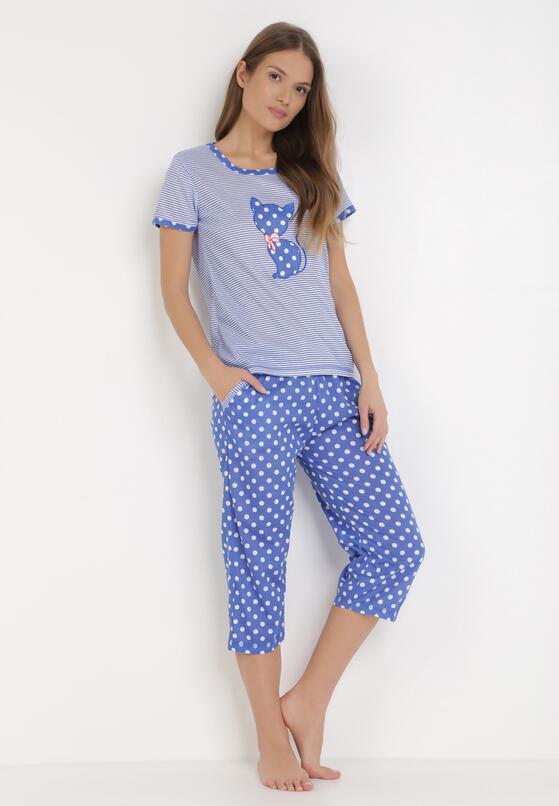 Niebieski Komplet Piżamowy Petolaeno