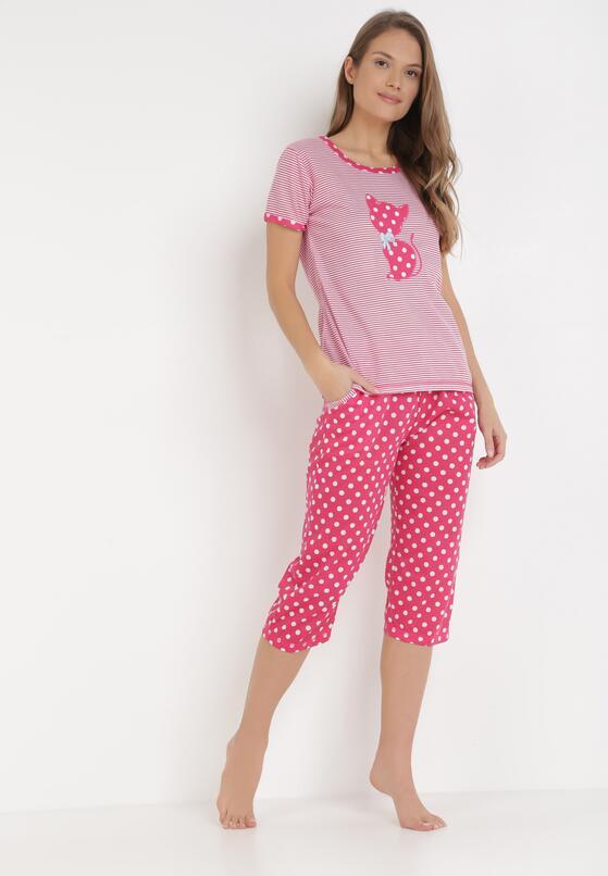 Różowy Komplet Piżamowy Petolaeno
