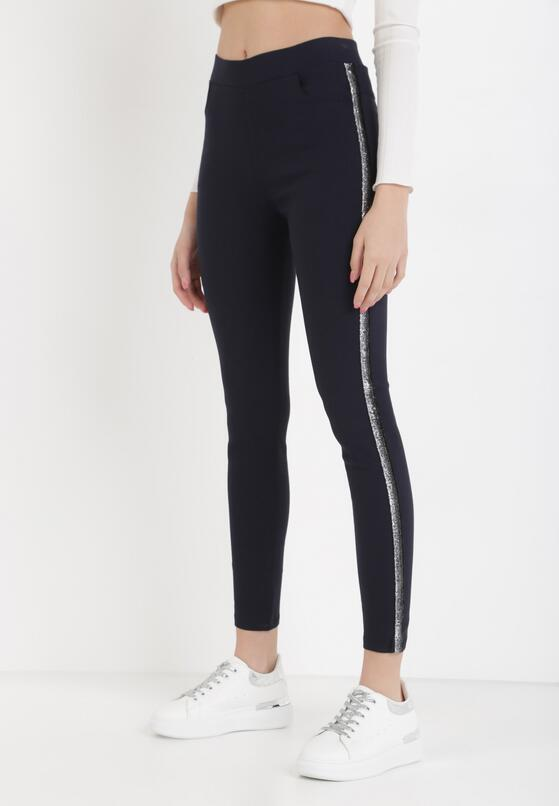 Granatowe Spodnie Emelyse