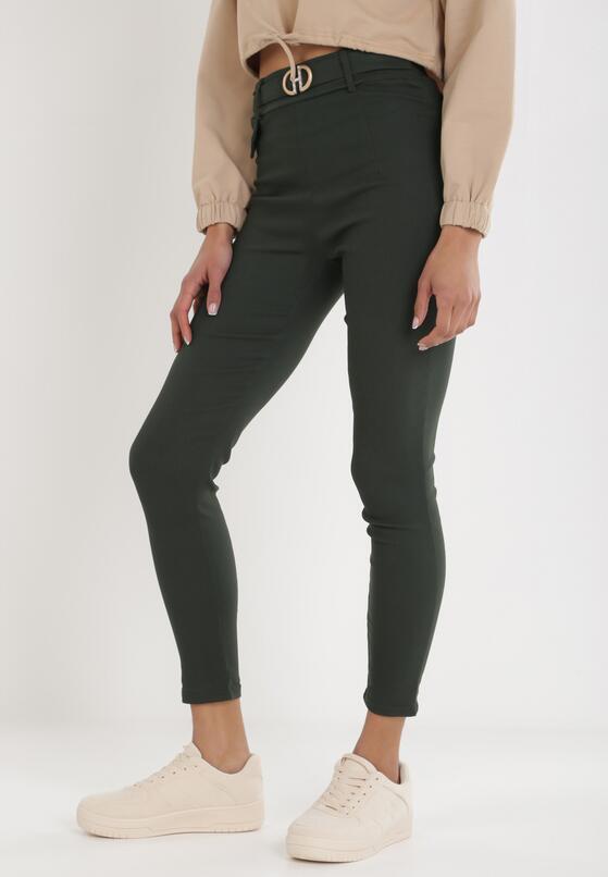 Ciemnozielone Spodnie Laridoe