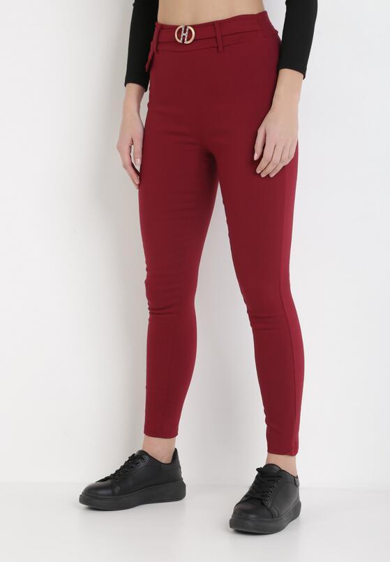 Bordowe Spodnie Laridoe