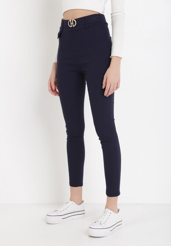 Granatowe Spodnie Laridoe