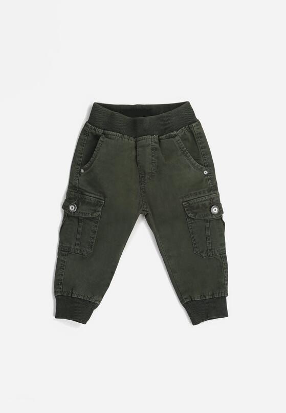 Ciemnozielone Spodnie Arelle