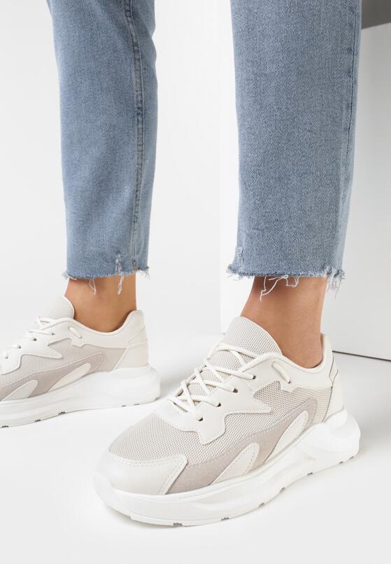 Jasnobeżowe Sneakersy Diame