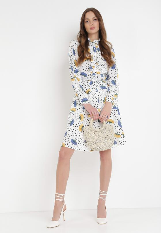 Biała Sukienka Mollophi