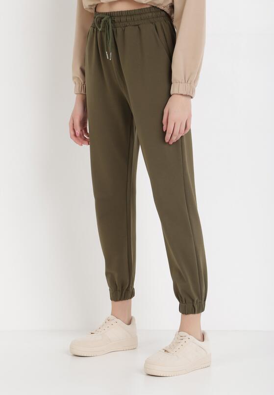 Zielone Spodnie Dresowe Anastophor