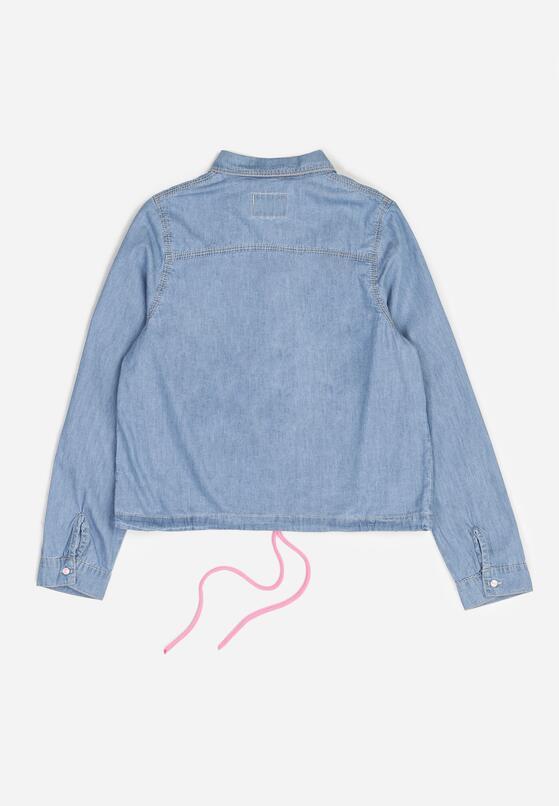 Niebiesko-Różowa Jeansowa Koszula Ilathusa