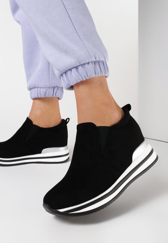 Czarne Sneakersy Kahlidoe