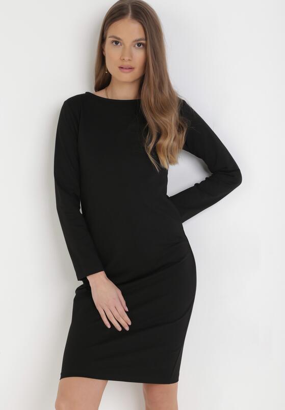 Czarna Sukienka Sanya