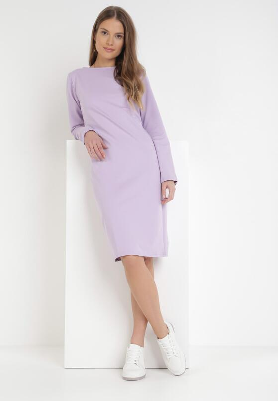 Liliowa Sukienka Sanya